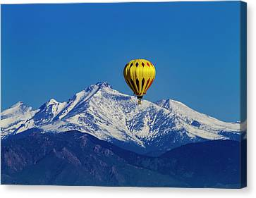 Inflatable Canvas Print - Floating Above The Mountains by Teri Virbickis
