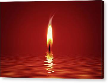 Candle Lit Canvas Print - Floating Candlelight by Wim Lanclus