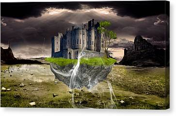 Floating Castle Canvas Print by Marvin Blaine