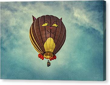 Floating Cat - Hot Air Balloon Canvas Print by Bob Orsillo