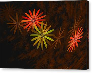 Floating Floral-008 Canvas Print by David Lane