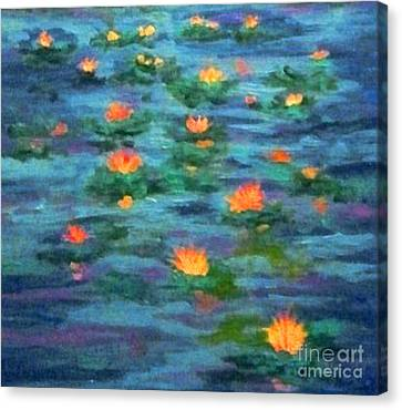 Floating Gems Canvas Print by Holly Martinson
