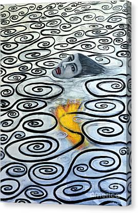 Floating Hearts Sixteen Canvas Print