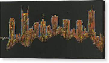 Floating Nashville Skyline Bl Canvas Print
