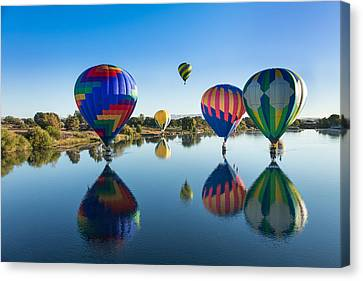 Floating On Air And Water Canvas Print by Mary Jo Allen