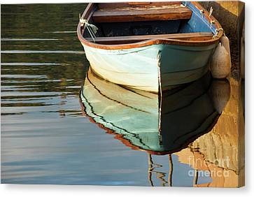 Canvas Print featuring the photograph Floating On Blue 44 by Wendy Wilton