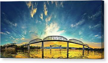 Floating On The River Canvas Print by Steven Llorca