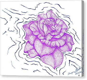 Floating Purple Rose  Canvas Print