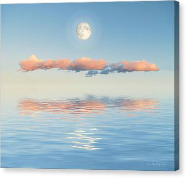 Floating Through Blue Canvas Print by Jerry McElroy