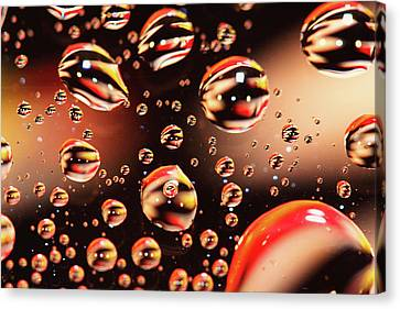 Floating Water Droplets  Canvas Print by Daphne Sampson