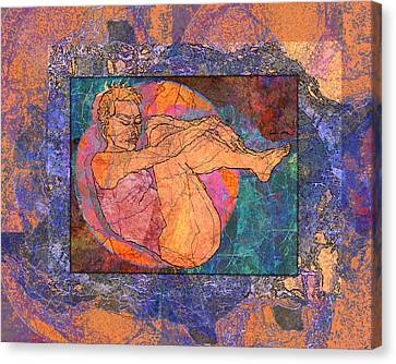 Floating Woman Canvas Print by Mary Ogle