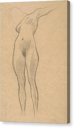 Floating Woman With Outstretched Arm Canvas Print by Gustav Klimt