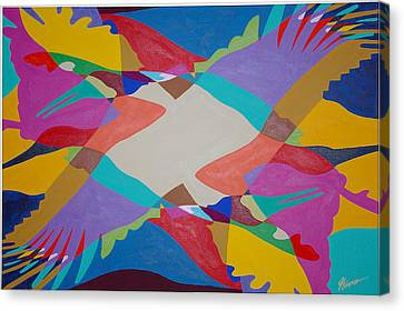 Flock Of Wings Canvas Print by Guadalupe Herrera