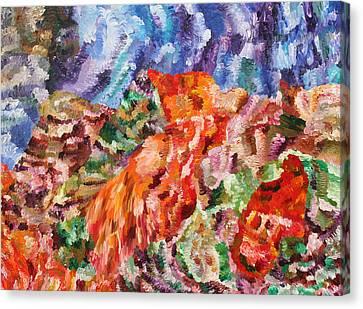 Flock Canvas Print by Ralph White