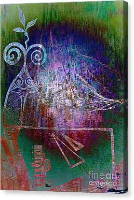 Flocking To Abstraction Canvas Print by Misha Bean