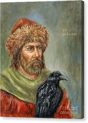 Floki Vilgerdarson Canvas Print by Arturas Slapsys
