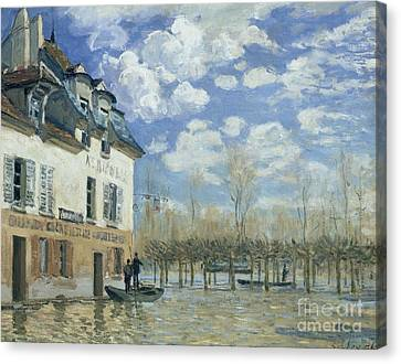Flood At Port-marly Canvas Print by Celestial Images