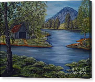 Flooded Farms Canvas Print by Vivian Cook