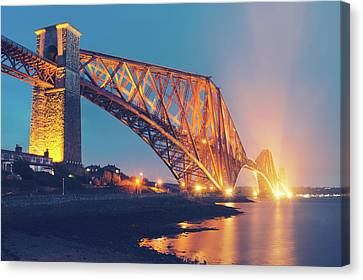Floodlit Forth Bridge Canvas Print