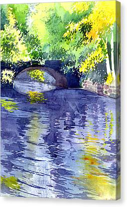 Canvas Print featuring the painting Floods by Anil Nene