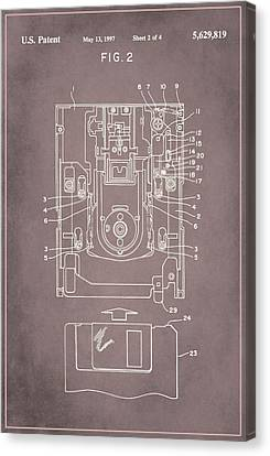 Floppy Disk Assembly Patent Drawing 1a Canvas Print