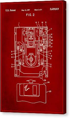 Floppy Disk Assembly Patent Drawing 1b Canvas Print