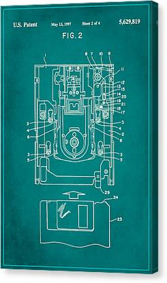Floppy Disk Assembly Patent Drawing 1c Canvas Print