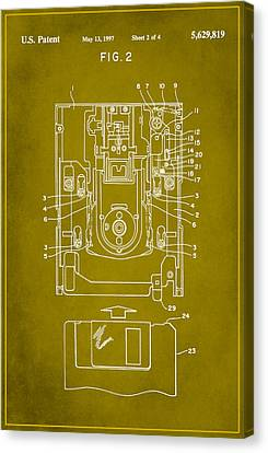 Floppy Disk Assembly Patent Drawing 1d Canvas Print