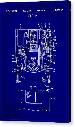 Floppy Disk Assembly Patent Drawing 1e Canvas Print