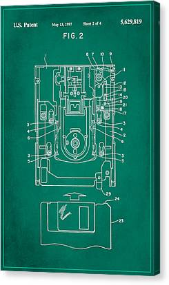 Floppy Disk Assembly Patent Drawing 1f Canvas Print