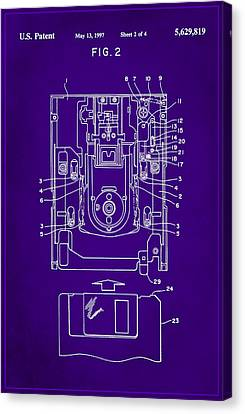 Floppy Disk Assembly Patent Drawing 2a Canvas Print