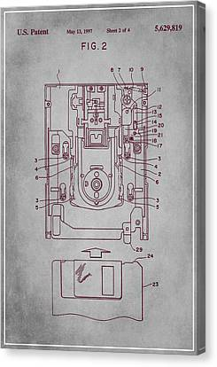Floppy Disk Assembly Patent Drawing  Canvas Print