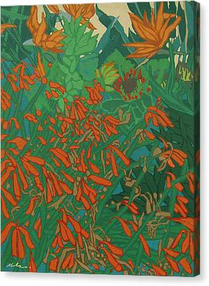 Flora And Fauna Canvas Print by Malcolm Warrilow