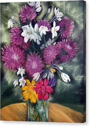 Flora Aura   Pastel Canvas Print by Antonia Citrino