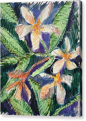 Flora Exotica Canvas Print by Dodd Holsapple
