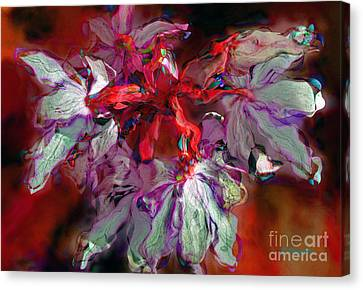 Floral In Red Canvas Print