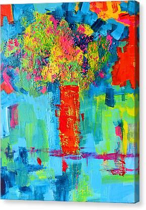 Interior Still Life Canvas Print - Floral Abstract Expressions by Patricia Awapara
