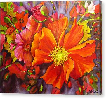 Canvas Print featuring the painting Floral Abundance by Chris Hobel