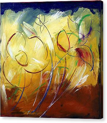 Floral Asbtract Canvas Print by Mario Zampedroni