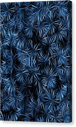 Canvas Print featuring the painting Floral Blue Abstract by David Dehner