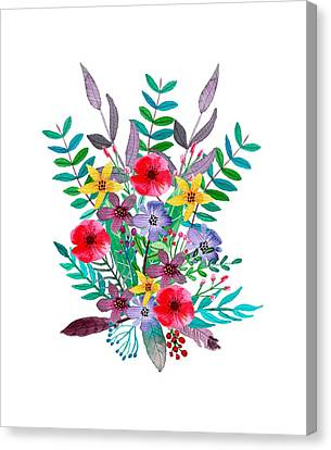Floral Bouquet Canvas Print by Amanda Lakey