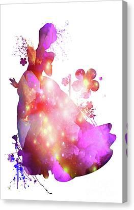 Floral Cinderella  Canvas Print