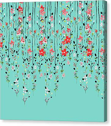 Floral Dilemma Canvas Print by Uma Gokhale