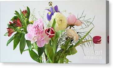 Canvas Print featuring the photograph Floral Display by Wendy Wilton