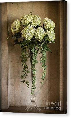 Floral Elegance, Painterly Style Canvas Print