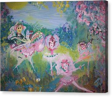 Floral Fairies Canvas Print by Judith Desrosiers