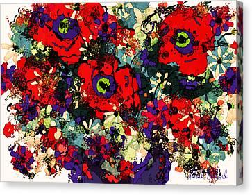 Floral Fiesta Canvas Print by Natalie Holland