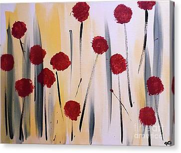 Floral Fireworks Canvas Print by Jilian Cramb - AMothersFineArt