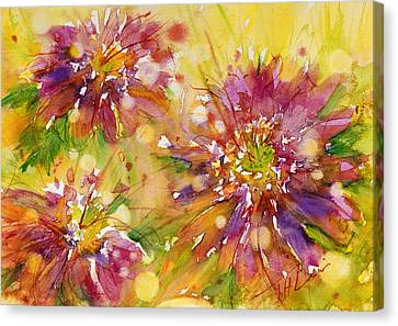 Floral Fireworks Canvas Print by Judith Levins