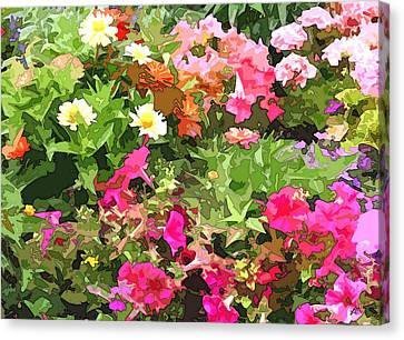 Floral Garden Wonder Abstract Canvas Print by Linda Mears